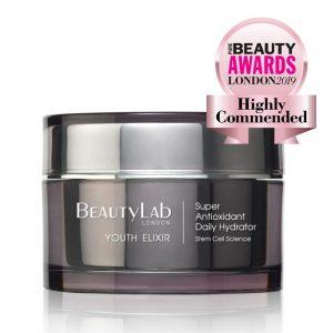 Youth Elixir Crème du jour Hydratant hautement décommandée Beauty Awards London 2019